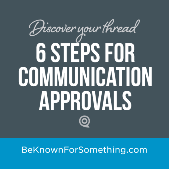 Communication Approvals