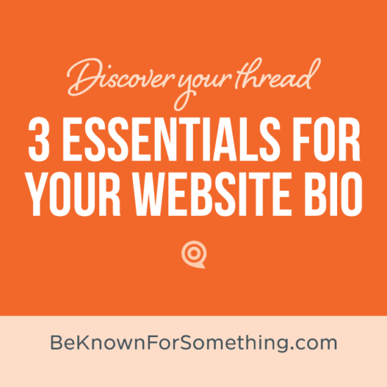 3 Essentials for your Website Bio
