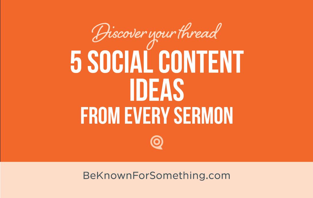 5 Social Content Ideas