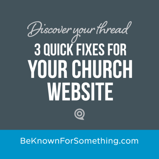 Quick Fixes for a Website