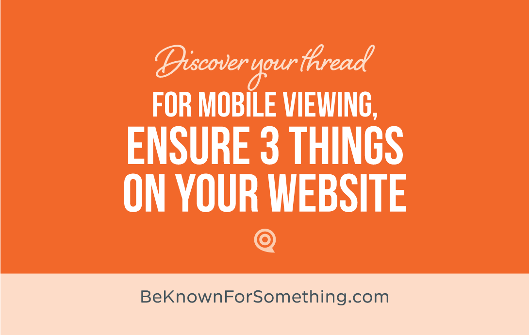 3 Things for Mobile Websites