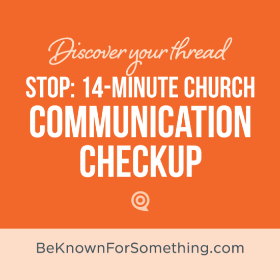 Church Communication Checkup