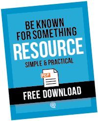 Be Known for Something Resource PDF