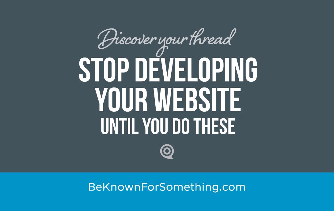 Stop Developing Your Website
