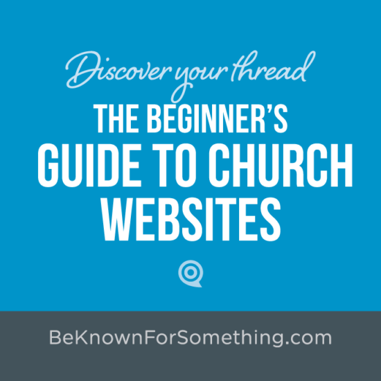 The beginner's guide to church websites