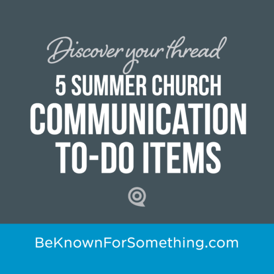 Communication To-do's