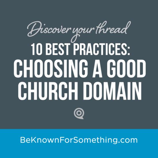 Choosing a Good Domain