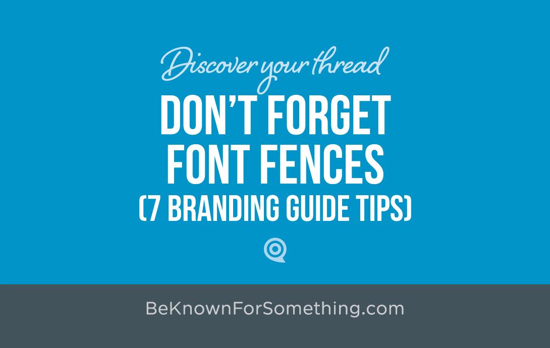 Font Fences (Brand Guide)
