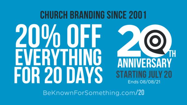 20th Anniversary Discount