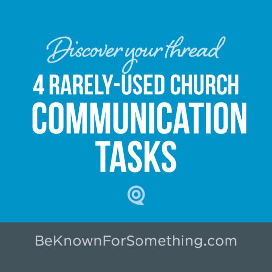Church Communication Tasks